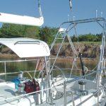 custom metal tower on stern
