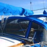 blue canvas canopy and cover