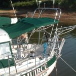 radar arch installed on sailboat