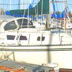green canvas sail wrap