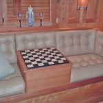 checkerboard table woodwork